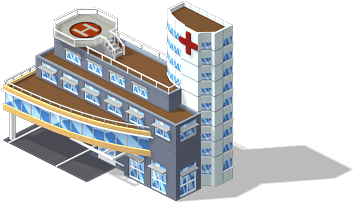 mun hospital SW CityVille Community Buildings Guide